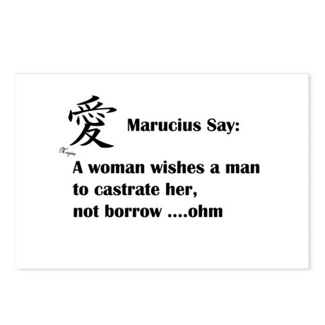 Marucius Say: A womans wish Postcards (Package of