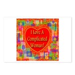 I Love A Complicated Woman! Postcards (Package of