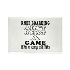 Knee Boarding ain't just a game Rectangle Magnet
