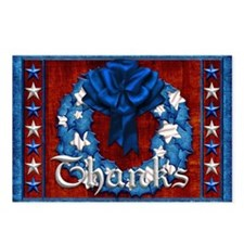 Harvest Moons Americana Thank You Postcards 8 Pack