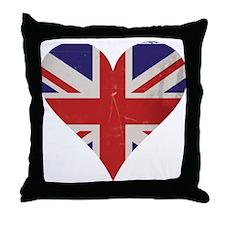 UK Heart Throw Pillow
