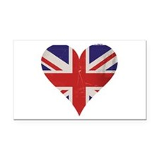 UK Heart Rectangle Car Magnet