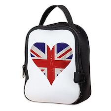 UK Heart Neoprene Lunch Bag