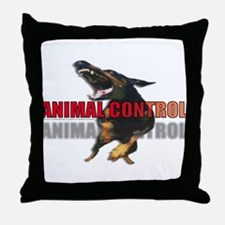 ANIMAL CONTROL Throw Pillow