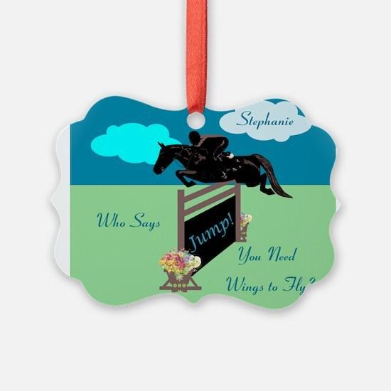 Fun Grand Prix Horse Jumper Ornament