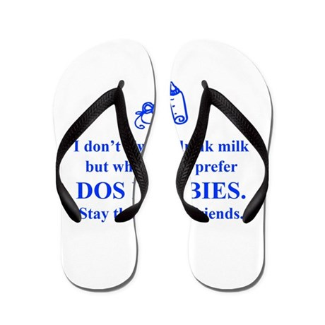 dos-boobies-times-blue Flip Flops