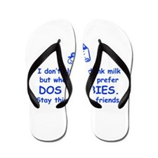 dos-boobies-com-blue Flip Flops