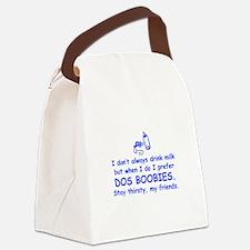 dos-boobies-com-blue Canvas Lunch Bag