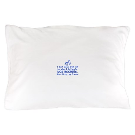dos-boobies-com-blue Pillow Case