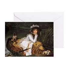 Lady in a Boat Greeting Card