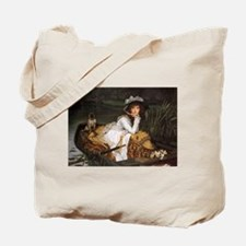 Lady in a Boat Tote Bag