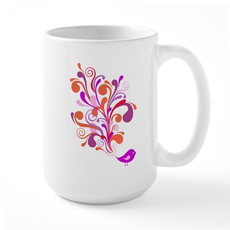 cute pink orange bird Mug