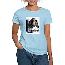 Bluetick Coonhound Love Ash Grey T-Shirt