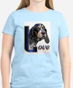 Bluetick Coonhound Love Ash Grey T-Shirt