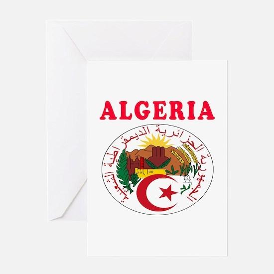 Algeria Coat Of Arms Designs Greeting Card