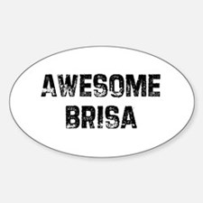 Awesome Brisa Oval Decal
