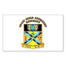 Artillery - 201st Field Artillery Regiment Decal