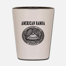 American Samoa Coat Of Arms Designs Shot Glass