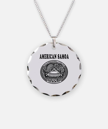 American Samoa Coat Of Arms Designs Necklace