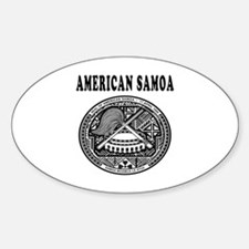 American Samoa Coat Of Arms Designs Sticker (Oval)