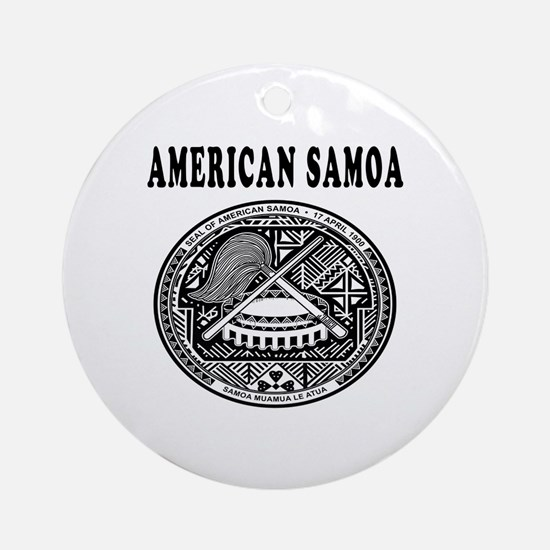 American Samoa Coat Of Arms Designs Ornament (Roun