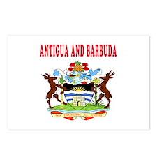 Antigua and Barbuda Coat Of Arms Designs Postcards