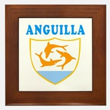 Anguilla Samoa Coat Of Arms Designs Framed Tile