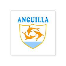 Anguilla Samoa Coat Of Arms Designs Square Sticker