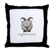 Fun capricorn zodiac sign Throw Pillow