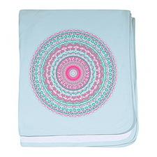 Heartfelt Mandala Kaleidoscope Pattern baby blanke