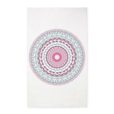 Heartfelt Mandala Kaleidoscope Pattern 3'x5' Area