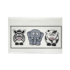 Fun animal trio Rectangle Magnet