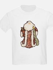 """""""Vintage Santa"""" Kids T-Shirt"""