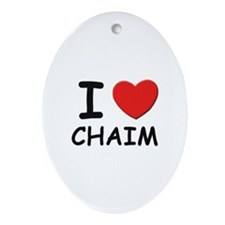 I love Chaim Oval Ornament