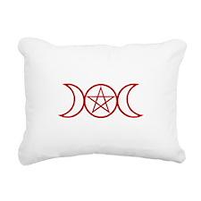 Wiccan Goddess Symbol Red Rectangular Canvas Pillo