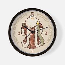 """""""Vintage Santa"""" Wall Clock"""