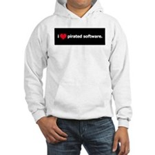 I Heart Pirated Software Hoodie