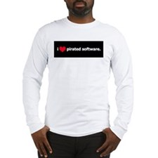 I Heart Pirated Software Long Sleeve T-Shirt