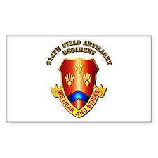 Artillery - 214th Field Artillery Regiment Decal