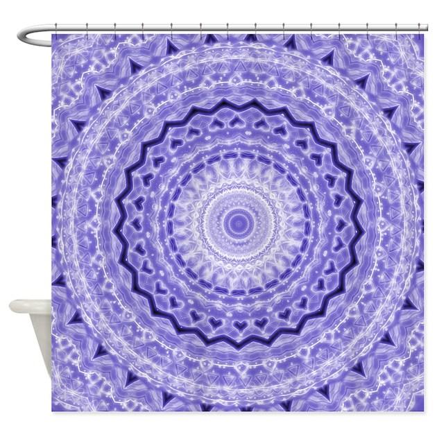Purple Heart Mandala Shower Curtain By Damask Patterns