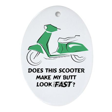 Fast Butt (Green) Oval Ornament