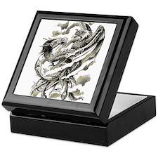 Dragon Phoenix Tattoo Art A4 Keepsake Box
