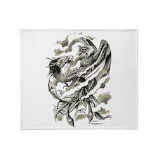 Dragon Phoenix Tattoo Art A4 Throw Blanket