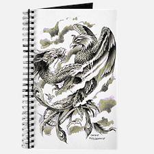 Dragon Phoenix Tattoo Art A4 Journal