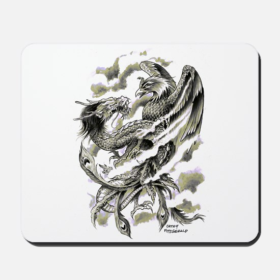Dragon Phoenix Tattoo Art A4 Mousepad