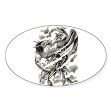 Dragon Phoenix Tattoo Art A4 Decal