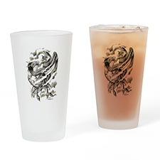 Dragon Phoenix Tattoo Art A4 Drinking Glass