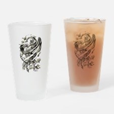 Dragon Phoenix Tattoo Art A4 Drinking Glass