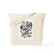 Dragon Phoenix Tattoo Art A4 Tote Bag