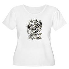 Dragon Phoenix Tattoo Art A4 Plus Size T-Shirt